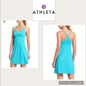 Athleta shorebreak dress size small teal
